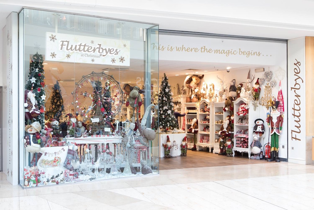W&Co's fit-out for Flutterbye's Christmas popup shop