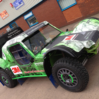 3M's IJ380 graphic film to wrap his Warrior Indy SSG