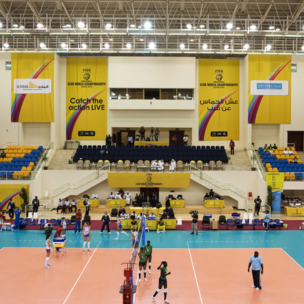 signage and wayfinding from Icon for the recent FIVB Volleyball tournament.