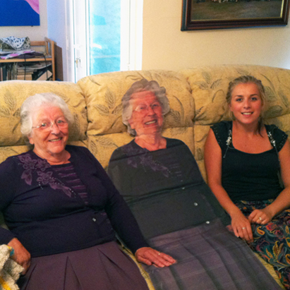 She created this life-size print of her own gran