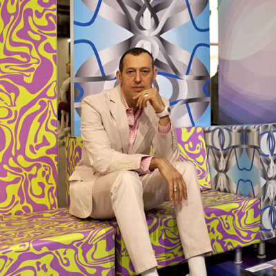 Karim designed the lounge area of HP's stand to inspire visitors
