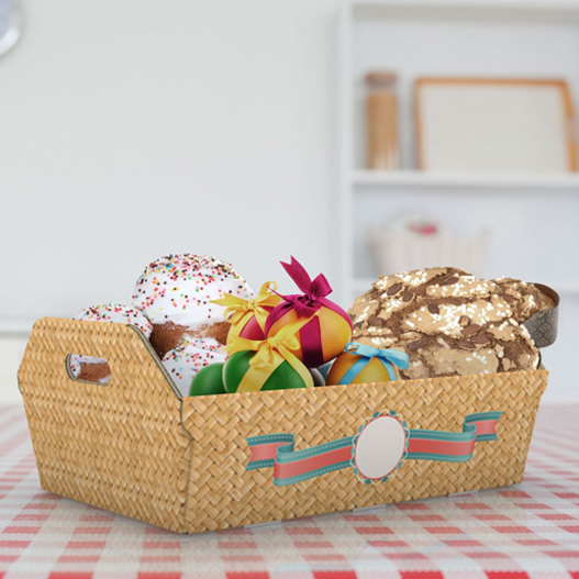 The baskets could be customised with images on the outside.