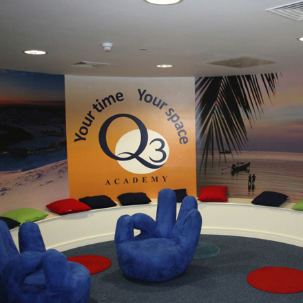 Graphic Alliance delivers inspirational graphics to Q3 Academy