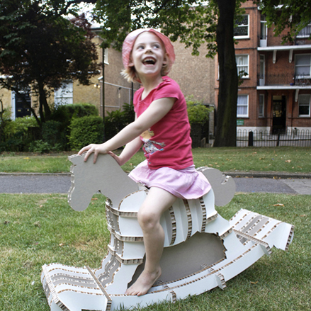 Reggie the Eco Rocker, a modern and sustainable alternative to traditional rocking horse