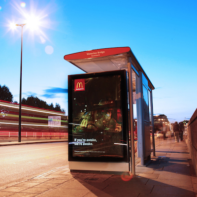 Clear Channel UK solar powered bus shelter